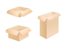 Crimped_cardboard_boxes. Three boxes of crimped cardboard Royalty Free Stock Images