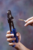 Crimper And Cat5 Cable Royalty Free Stock Image