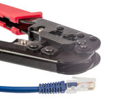 Crimper with cable Stock Photo