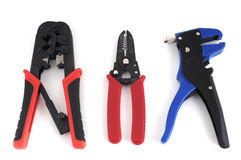 Crimper and stripper tools royalty free stock images