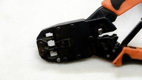 Crimping narzędzie dla sieć kabla obraz royalty free