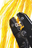 Crimping narzędzie i kable Obraz Royalty Free