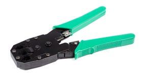 Crimping narzędzie odizolowywający na białym tle Fotografia Royalty Free