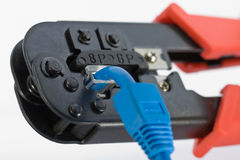 Crimping Tool With RJ45 Jack Royalty Free Stock Photo