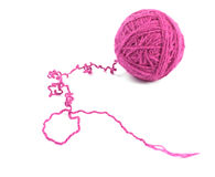 Crimson ball of yarn Royalty Free Stock Image