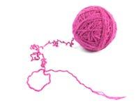 Crimson ball of yarn Royalty Free Stock Image