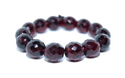 Crimson Beads Bracelet Stock Photos