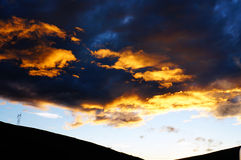 Crimson clouds Royalty Free Stock Photo