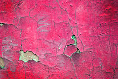Crimson cracked wall texture Royalty Free Stock Photos