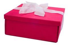 crimson dekorativ present Royaltyfri Foto