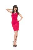 Crimson dress Royalty Free Stock Image