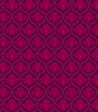 Crimson. Floral pattern on purple background seamless Stock Images
