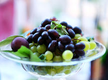 Crimson grape, bunch of grapes, grapes in the plate Stock Image