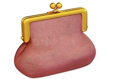 crimson handväska royaltyfria bilder