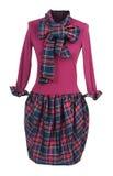 crimson klänning royaltyfria foton
