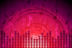 Crimson music flyer abstract background Stock Photo