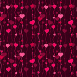 Crimson and pink hearts - vector seamless design as background pattern Royalty Free Stock Image