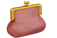Crimson purse Royalty Free Stock Images