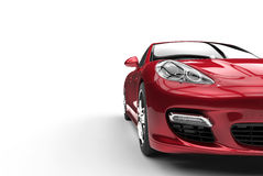 Crimson Red Car Front View Stock Photography