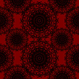 Crimson Red Round Lace Gothic Pattern Stock Photography