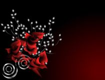 Crimson roses. A beautiful illustrated background with a floral design of roses in dark crimson theme Royalty Free Stock Images