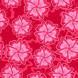Crimson seamless background. Abstract crimson flowers form a seamless composition Stock Photo