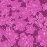 Crimson seamless flower pattern. Vector seamless texture. Use for wallpaper, pattern fills, web page background Stock Images