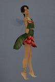 Crimson star fairy Stock Image