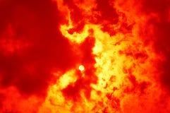 Crimson Sun Royalty Free Stock Photos