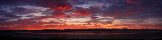 Crimson sunset Royalty Free Stock Images