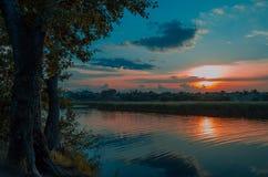 Crimson sunset Royalty Free Stock Photography