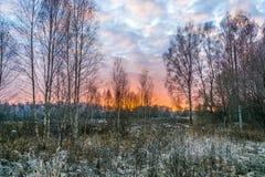 Crimson sunset. Royalty Free Stock Photography