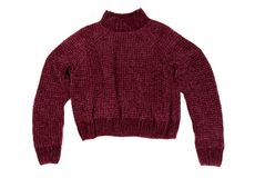 Crimson sweater. Isolate on white Royalty Free Stock Image