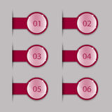 Crimson tabs Royalty Free Stock Images
