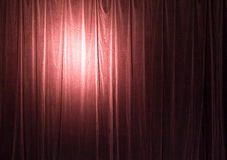 Crimson theatrical backdrop. Close up of crimson theatrical backdrop curtains Royalty Free Stock Image