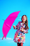 Crimson umbrella Royalty Free Stock Image
