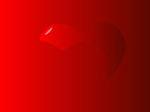 Crimson Valentine Hearts Royalty Free Stock Photography