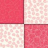 Crimson and white geometric pattern set. Vector illustration. Crimson and white geometric pattern set. Vector illustration Stock Images