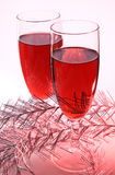 Crimson wine Stock Images