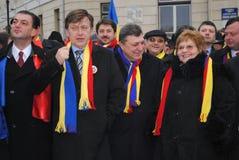 Crin Antonescu et amorces généreuses Photographie stock libre de droits