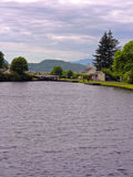 Crinan canal. Lock basin on the Crinan canal, argyll, scotland, UK Stock Photo