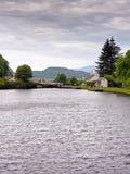 Crinan canal. Lock basin on the Crinan canal, argyll, scotland, UK Royalty Free Stock Images