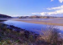 Crinan estuary reserve, Scotland. The Crinan estuary, in Argyllshire, Scotland. A very important area for wildlife, especially birds. This estuary is right next Royalty Free Stock Image