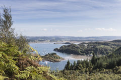 Crinan Harbour in West Argyll in Scotland. Royalty Free Stock Photos