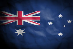 Crinked paper background with blending  Australia flag Royalty Free Stock Image
