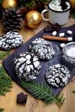 Crinkle σοκολάτας μπισκότα στοκ φωτογραφία με δικαίωμα ελεύθερης χρήσης