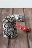 Crinkle cookies at Christmas Royalty Free Stock Image