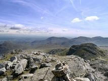 Crinkle Crags summit Stock Photos