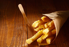 Crinkle cut golden french fries Royalty Free Stock Images