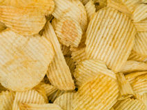 Crinkle Cut Potato Crisps or Chips Stock Photo